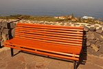 Bench at Mirador de San Pedro, Castro Mansion, La Casona de Castro, Protected Landscape of the Rambla de Castro, Los Realejos, Island of Tenerife, Canary Islands, Spain