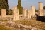 Casa de la Exedra Roman Ruins, House of Exedra Roman Ruins, Exedra´s house, Hispania Baetica, Italica, 2nd Century Roman City, Santiponce, Sevilla, Seville, Andalucia, Spain