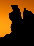 Erosional Formations at Sunset, Teide National Park, Island of Tenerife, Canary Islands, Spain