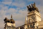 Quadriga, Four Horse Chariot Sculpture, BBVA Bank Building, Madrid, Spain