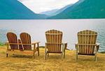 Chairs on Lake Crescent, Olympic National Park, Washington