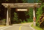 Wooden Entrance Gate, Mount Rainier National Park, Washington
