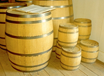 Barrels in Indian Trade Shop, Fort Vancouver National Historic Site, Vancouver, Washington