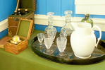 Glassware in Counting House, Fort Vancouver National Historic Site, Vancouver, Washington