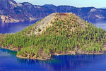 Wizard Island Cinder Cone, Crater Lake National Park, Oregon