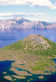 Wizard Island from Watchman Overlook, Crater Lake National Park, Oregon