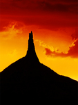 Chimney Rock Sunset, Chimney Rock National Historic Site, Oregon Trail, Nebraska