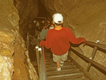 Tour Group in Jewel Cave, Jewel Cave National Monument, Black Hills, South Dakota