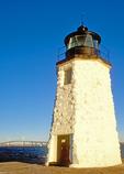 Goat Island Light, Newport Harbor Light, Green Light, Claiborne Pell Newport Bridge, Narragansett Bay, Newport, Rhode Island