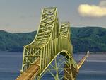 Astoria Bridge, Astoria Megler Bridge, Steel Girder Continuous Truss Bridge, Astoria, Oregon