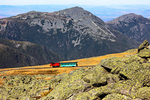 Mount Washington Cog Railway, Summit of Mt. Washington, White Mountains, New Hampshire