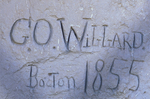 Willard Inscription, Register Cliff, Oregon National Historic Trail, Guernsey, Wyoming