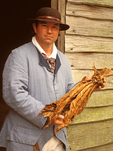 Historical Reenactor Holding Tobacco, Yorktown Victory Center, Museum of the American Revolution, Yorktown, Virginia