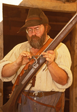 Musket Demonstration, Jamestown Settlement, Jamestown, Virginia