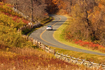 Car Driving on the Blue Ridge Parkway, Blue Ridge Mountains, Appalachian Mountains, Virginia