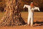 Scarecrow at Mountain Farm, Humpback Rocks Area, Blue Ridge Parkway, Blue Ridge Mountains, Appalachian Mountains, Virginia