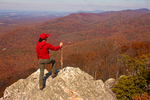 Hiker on Turk Mountain Summit, Blue Ridge Mountains, Shenandoah National Park, Virginia