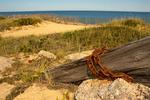 Historic Ruins and Sand Dune Cliffs, Marconi Wireless Station Site, Cape Cod National Seashore, Wellfleet, Massachusetts