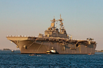 USS Wasp LHD-1, amphibious assault ship, Boston Harbor, Massachusetts