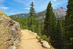 Dream Lake Trail and Longs Peak, Rocky Mountain National Park, Colorado