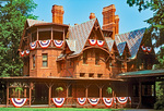 Mark Twain House and Museum, 19th Century Victorian Gothic Architectural Style, Hartford, Connecticut