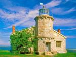 Stonington Harbor Light, 19th century lighthouse, Old Lighthouse Museum, Stonington, Connecticut