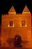 Old Gate of Bisagra at Night, Alfonso VI Gate, 10th Century Architecture, Toledo