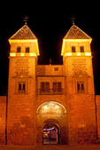 Old Gate of Bisagra at Night, Alfonso VI Gate, 10th Century Architecture, Toledo, Spain