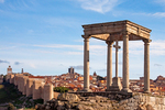 Bell Tower and Churches, Romanesque Style Medieval City Walls, View from the Four Posts, Walls of Avila, Spain