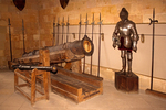 Cannon and Suit of Armor in Armory, Alcazar of Segovia, Segovia, Spain