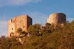 Castle of Monfragüe, Monfrague National Park, Province of Cáceres, Extremadura, Spain