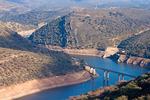 Modern Cardinal Bridge, Puente del Cardenal, Tagus River, Monfrague National Park, Province of Cáceres, Extremadura, Spain