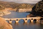 Cardinal Bridge, Puente del Cardenal, Tagus River, Monfrague National Park, Province of Cáceres, Extremadura, Spain