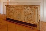 Roman Sarcophagus in the Cordoba Alcazar, Alcázar of the Christian Monarchs, Alcázar de los Reyes Cristianos, Andulucia, Cordoba, Spain