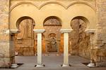Interior Arches, Upper Basilica House of Ya'far, Madinat al-Zahra, Medina Azahara, Arab Muslim Medieval Palace-City built by Abd-ar-Rahman III al-Nasir, Andulucia, Cordoba, Spain
