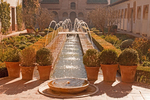 Fountains, Court of the Water Channel, Patio de la Acequia, Generalife Palace, The Alhambra, Granada, Andalucia, Spain