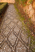 Floor Mosaic, Generalife Palace, The Alhambra, Granada, Andalucia, Spain