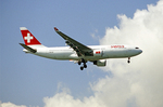 Swiss Air Airplane Flying