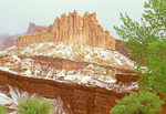 Castle Rock Formation in Winter, Capitol Reef National Park, Utah