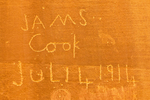 James Cook Inscription, Pioneer Register, 19th Century Pioneer Historical Graffiti, Capitol Gorge, Capitol Reef National Park, Utah