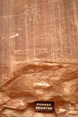 Pioneer Register, 19th Century Pioneer Historical Graffiti, Capitol Gorge, Capitol Reef National Park, Utah