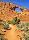 Trail to Skyline Arch, Arches National Park, Colorado Plateau, Moab, Utah