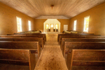 Interior, Missionary Baptist Church, Cades Cove, Great Smoky Mountains National Park, Tennessee