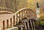 Old North Bridge and Minuteman Statue in Autumn, Minuteman National Historical Park, Concord, Massachusetts