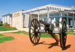 Civil War Cannon and Visitor Center, Antietam National Battlefield, American Civil War Battle of Antietam, Battle of Sharpsburg, Sharpsburg, Maryland