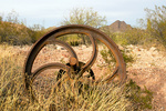 Wheel, Victoria Mine Ruins, Organ Pipe Cactus National Monument, Sonoran Desert, Arizona