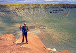 Guide at Meteor Crater, Barringer Crater, Canyon Diablo Crater, Arizona