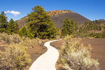 Hiking Trail, Sunset Crater Volcano National Monument, Volcanic Cinder Cone, Flagstaff, Arizona