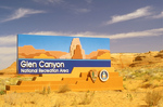Entrance Sign, Glen Canyon National Recreation Area, Page, Arizona
