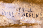 Historical Graffiti at Swallet Ruins, Montezuma Well, Sinaguan Ancestral Puebloan Ruin, Rimrock, Arizona